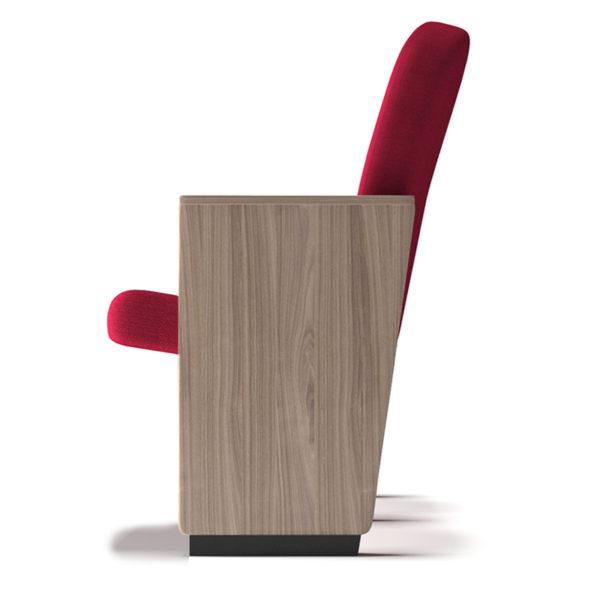 poltrona K905 X accessorio fiancata in legno a vista con diverse finiture
