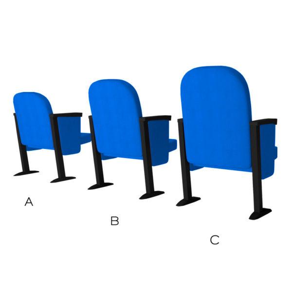 poltrona K905 accessorio tre varianti di altezza schienale