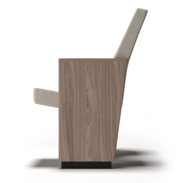 poltrona omega accessorio fiancata in legno a vista con diverse finiture
