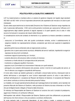 politica aziendale LCF